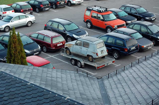 Durmiendo en un Parking